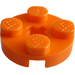 LEGO Orange Plate 2 x 2 Round with Axle Hole (with '+' Axle Hole) (4032)