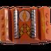 LEGO Orange Rear 2 x 2 Motor Block with Light / Lightning Bolt