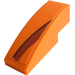 LEGO Orange Slope 1 x 3 Curved with Black Decoration Stripe on Orange Right Sticker