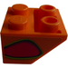 LEGO Orange Slope 45° 2 x 2 Inverted with Red Flame-Bubble (Right) Sticker