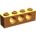 LEGO Orange Technic Brick 1 x 4 with Holes
