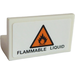 "LEGO Panel 1 x 2 x 1 with ""FLAMMABLE LIQUID"" and Triangular Warning Sign Sticker without Rounded Corners (4865)"