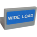 "LEGO Panel 1 x 2 x 1 with ""WIDE LOAD"" Sticker without Rounded Corners (4865)"