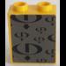 LEGO Panel 1 x 2 x 2 with Black Gravity Games Logo on Dark Gray Background Sticker (4864)