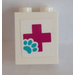 LEGO Panel 1 x 2 x 2 with Red Cross and Paw Sticker (6268)