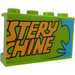 """LEGO Panel 1 x 4 x 2 with """"STERY"""", """"CHINE"""" and Notes, Photos on the Board Inside Sticker (14718)"""
