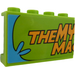 """LEGO Panel 1 x 4 x 2 with """"THE MY"""" and """"MA"""" Sticker (14718)"""