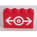 LEGO Panel 1 x 4 x 2 with White Train Logo Sticker (14718)