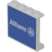 LEGO Panel 1 x 4 x 3 with 'Allianz' Decoration Sticker with Side Supports, Hollow Studs (60581)