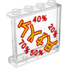 LEGO Panel 1 x 4 x 3 with Asian Characters and Percentage Rates Sticker with Side Supports, Hollow Studs (35323)