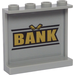 LEGO Panel 1 x 4 x 3 with 'BANK' and Gold Bars Sticker with Side Supports, Hollow Studs (35323)