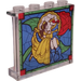 LEGO Panel 1 x 4 x 3 with Belle and Prince Adam Sticker with Side Supports, Hollow Studs (35323)