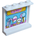 LEGO Panel 1 x 4 x 3 with 'CANDY', Lollipops and Candies in Jars Sticker with Side Supports, Hollow Studs (35323)