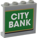 "LEGO Panel 1 x 4 x 3 with ""CITY BANK' Sticker with Side Supports, Hollow Studs (35323)"