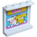 LEGO Panel 1 x 4 x 3 with 'GIFTS', T-shirts on Hangers and Diamonds Sticker with Side Supports, Hollow Studs (35323)