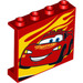 LEGO Panel 1 x 4 x 3 with Lightning McQueen Left and yellow flames with Side Supports, Hollow Studs (34226 / 60581)