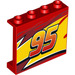 LEGO Panel 1 x 4 x 3 with Lightning McQueen Left yellow flash Middle and '95' with Side Supports, Hollow Studs (34227 / 60581)