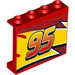 LEGO Panel 1 x 4 x 3 with Lightning McQueen yellow flash Middle and '95' with Side Supports, Hollow Studs (33892 / 60581)