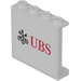 LEGO Panel 1 x 4 x 3 with 'UBS' Decoration Sticker (60581)
