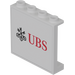 LEGO Panel 1 x 4 x 3 with 'UBS' Decoration Sticker with Side Supports, Hollow Studs (60581)