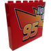 LEGO Panel 1 x 6 x 5 with 95, Telephone, and Heart (Two Sides) Sticker (59349)