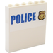 """LEGO Panel 1 x 6 x 5 with Badge,""""POLICE"""" Outside and Board with Photos, Notes Inside Sticker (35286)"""