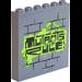 LEGO Panel 1 x 6 x 5 with 'MUTANTS RULE!', Brick Wall Sticker (59349)