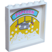 LEGO Panel 1 x 6 x 5 with 'POPCORN' Inside and Mirror with Heart, Star, Rainbow, Lightning, and Emoji Outside Sticker (35286)