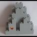 LEGO Panel 3 x 8 x 7 Rock Triangular with Magenta Butterfly Sticker (6083)