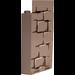 LEGO Panel Wall 3 x 3 x 6 Corner with Mossy Bricks (Side 1) and Portrait (Side 2) Sticker (87421)