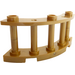 LEGO Pearl Gold Fence Spindled 4 x 4 x 2 Quarter Round with 3 Studs (21229)