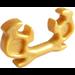 LEGO Pearl Gold Ninja Horns (11437)