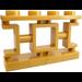 LEGO Pearl Gold Oriental Fence 1 x 4 x 2 (32932)