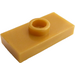 LEGO Pearl Gold Plate 1 x 2 with 1 Stud (with Groove) (3794)