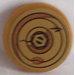 LEGO Pearl Gold Round Tile 2 x 2 with Bolt and Cracked and Rusting Washers Sticker