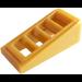LEGO Perle d'or Pente 1 x 2 x 0.6 (18°) avec Grille (61409)