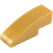 LEGO Pearl Gold Slope 1 x 3 Curved (50950)