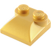 LEGO Pearl Gold Slope 2 x 2 Curved with Curved End (47457)
