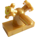 LEGO Pearl Gold Tap 1 x 2 with Two Handles (Small Handles) (13770 / 28920)