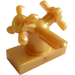 LEGO Pearl Gold Tap 1 x 2 with Two Taps (Large Handles) (6936)