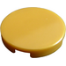 LEGO Pearl Gold Tile 2 x 2 Round with Bottom Stud Holder (14769)