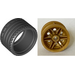 LEGO Pearl Gold Wheel Rim Ø30 x 20 Assembly with No Pinholes, with Reinforced Rim