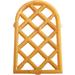 LEGO Pearl Gold Window 1 x 2 x 2.667 Pane Lattice Diamond with Rounded Top (29170 / 30046)