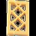 LEGO Pearl Gold Window 1 x 2 x 3 Latticed Pane (Reinforced) (60607)