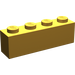 LEGO Pearl Light Gold Brick 1 x 4 (3010)
