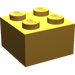 LEGO Pearl Light Gold Brick 2 x 2 (3003)