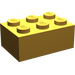 LEGO Pearl Light Gold Brick 2 x 3 (3002)