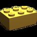 LEGO Pearl Light Gold Brick 2 x 3 (3002)