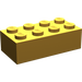 LEGO Pearl Light Gold Brick 2 x 4 (3001)