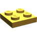 LEGO Pearl Light Gold Plate 2 x 2 (3022)